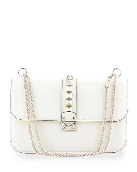 Rockstud Medium Flap Bag, Ivory