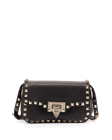Rockstud Mini Crossbody Bag, Black