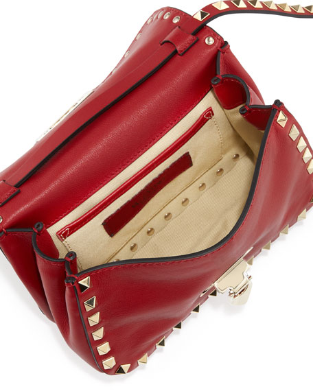 Valentino Studded Mini Crossbody Bag, Red