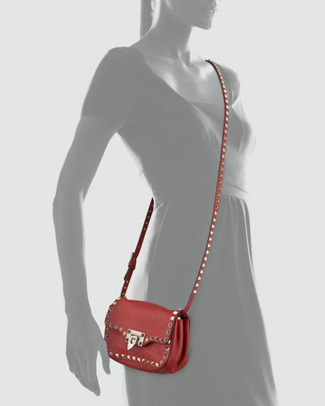 Studded Mini Crossbody Bag, Red