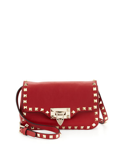 Valentino Studded Mini Crossbody Bag, Red