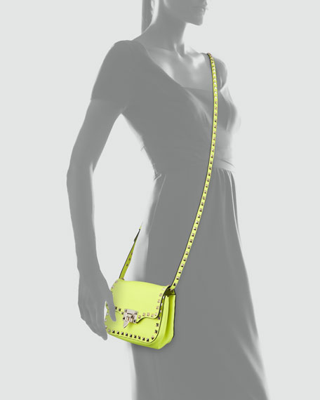 Studded Mini Crossbody Bag, Yellow