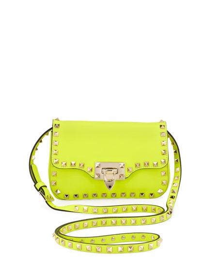 Studded Mini Crossbody Bag, Yellow