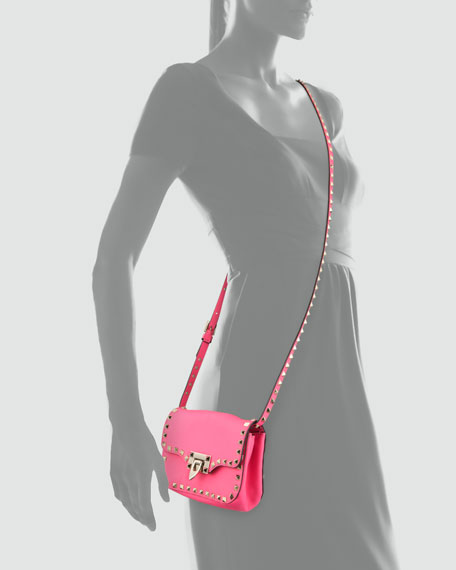 Rockstud Mini Crossbody Bag, Pink