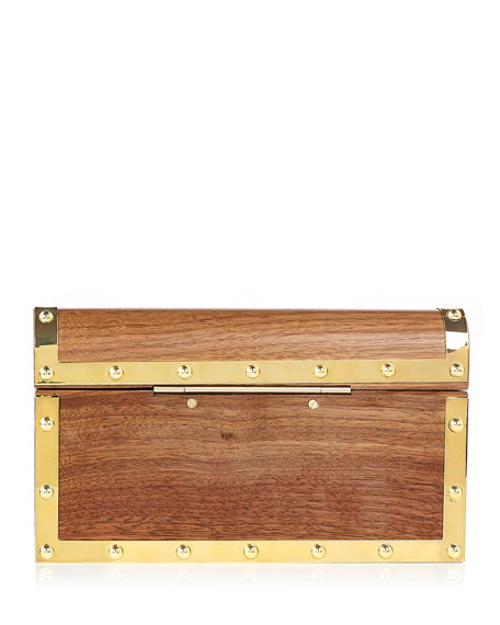 Charlotte Olympia Treasure Chest Clutch Bag, Brown