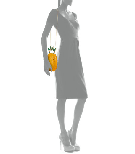 Charlotte Olympia Ana Pineapple Acrylic Shoulder Bag
