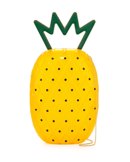 Ana Pineapple Acrylic Shoulder Bag