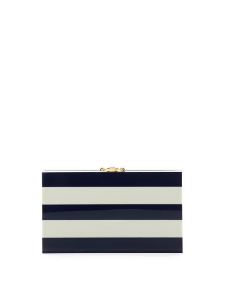 Pandora Nautical Stripes Box Clutch, Navy