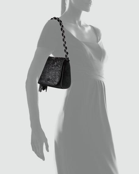 Spangle Shoulder Bag, Black