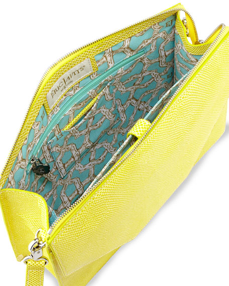 Kirsten Pebbled Crossbody Bag, Lemon