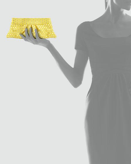 Eve Polka-Dot Clutch Bag, Yellow