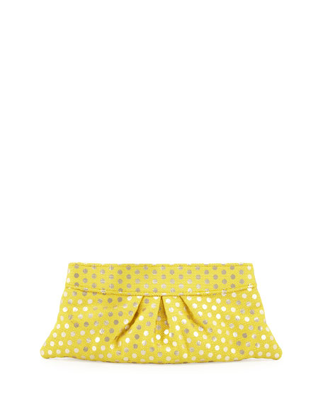 Eve Polka-Dot Clutch Bag, Yellow
