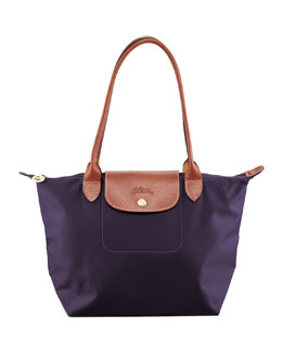 Longchamp  Le Pliage Small Shoulder Tote Bag, Bilberry