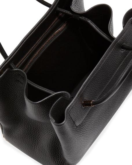 Prisma Skeletal Leather Tote Bag, Black