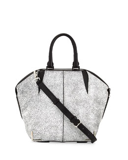 Alexander Wang Small Emile Skeletal Tote Bag, White