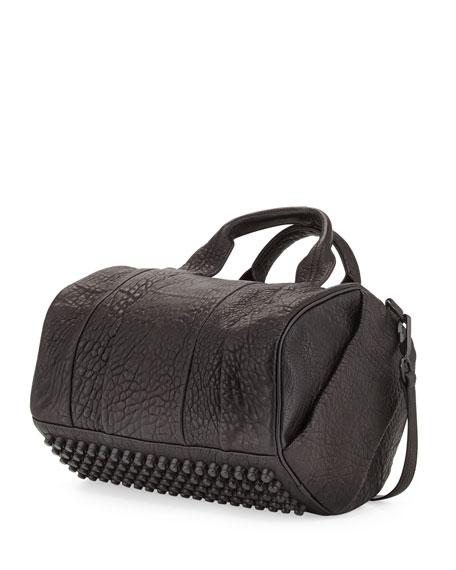 Rocco Dumbo Stud-Bottom Satchel Bag, Black