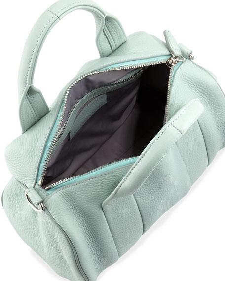 Rocco Stud-Bottom Satchel Bag, Peppermint