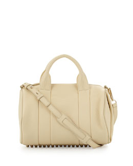 Alexander Wang Rocco Dumbo Slick Satchel Bag, Meringue