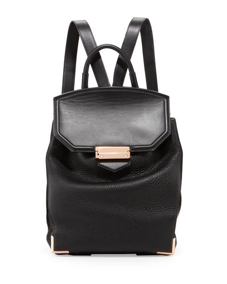 Alexander Wang Prisma Skeletal Leather Backpack, Black