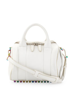 Alexander Wang Rockie Small Crossbody Satchel Bag, White