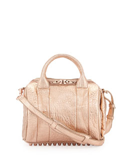 Alexander Wang Rockie Dumbo Small Crossbody Satchel Bag, Rose Gold