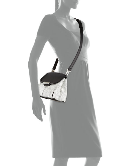 Marion Prisma Skeletal Shoulder Bag, White