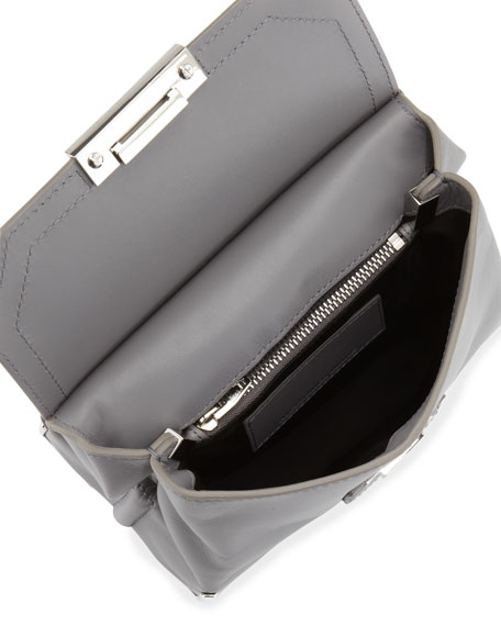 Marion Prisma Skeletal Shoulder Bag, Gray