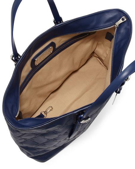 LM Cuir Large Tote Bag, Navy