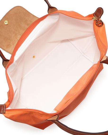 Le Pliage Large Nylon Shoulder Tote Bag, Orange