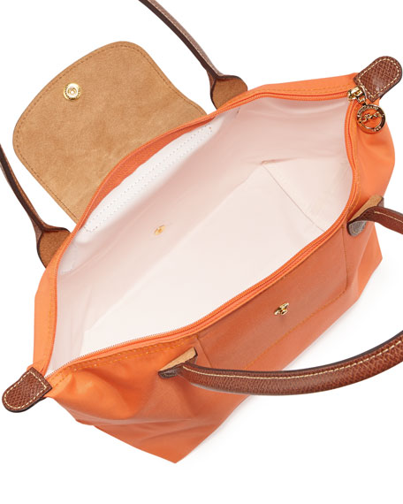 Le Pliage Medium Shoulder Tote Bag, Orange