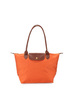 Longchamp Le Pliage Medium Shoulder Tote Bag, Orange