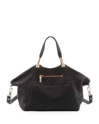 Elizabeth and James Cynnie Leather Satchel Bag, Black