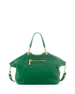 Elizabeth and James Cynnie Leather Satchel Bag, Green