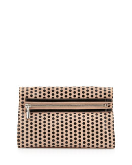 Elizabeth and James Cynnie Polka Dot Convertible Clutch Bag, Champagne