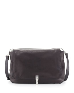 Elizabeth and James Cynie Lambskin Crossbody Bag, Black
