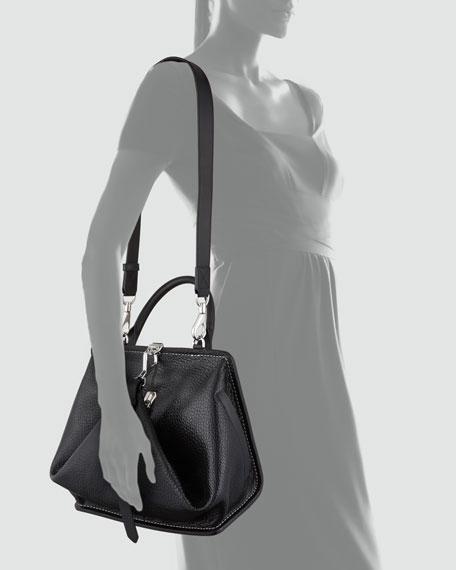 Opanca Fold-Front Satchel, Black