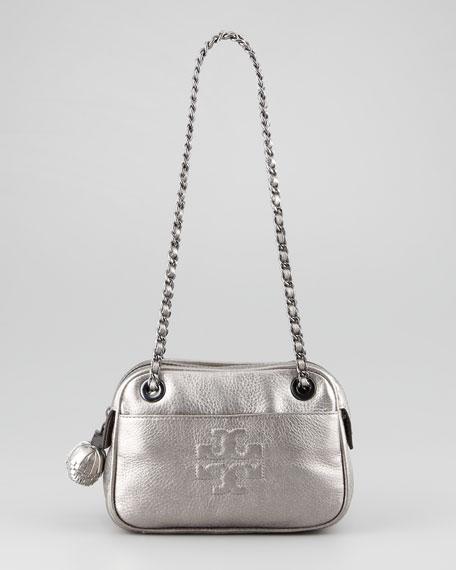 Thea Metallic Crossbody Camera Bag, Gunmetal