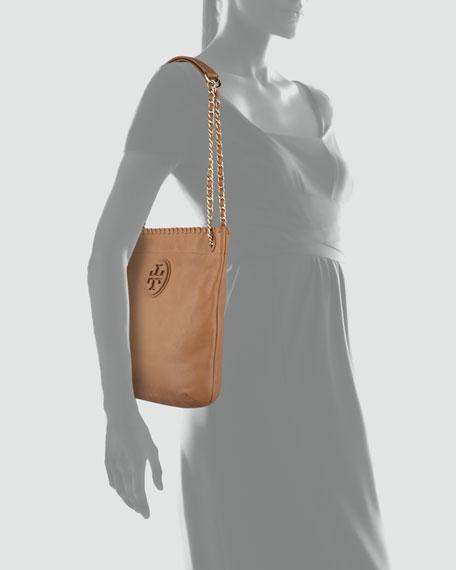 Marion Leather Book Bag, Royal Tan