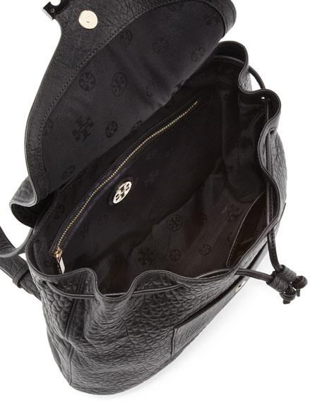 Parkan Leather Backpack, Black