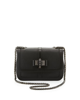 Christian Louboutin Sweet Charity Calfskin Shoulder Bag, Black