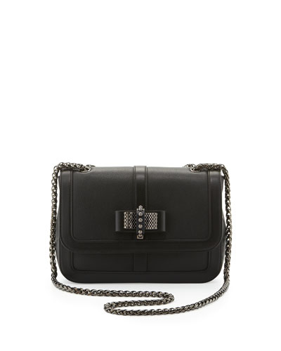 Christian Louboutin Sweet Charity Calfskin Shoulder Bag, Black