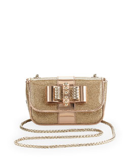 Christian Louboutin Sweety Charity Spike Glitter Crossbody Bag