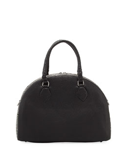 Christian Louboutin Panettone Large Eyelet Satchel Bag, Black