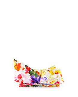 Christian Louboutin Loubibow Satin Clutch Bag, Floral
