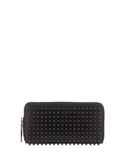Christian Louboutin Panettone Spiked Zip Wallet, Black