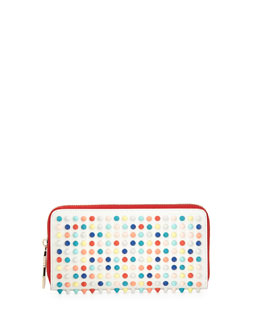 Christian Louboutin Panettone Spiked Zip Wallet, Multicolor