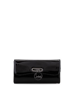 Christian Louboutin Riviera Patent Clutch Bag, Black