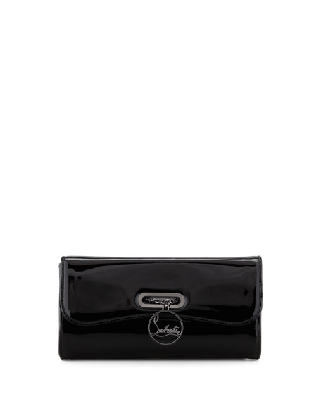 Riviera Patent Clutch Bag, Black