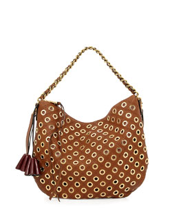 Marc Jacobs Nomad Quilted Grommet Hobo Bag, Brown