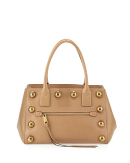 Marc Jacobs Cabochon Not So Big Apple Tote Bag, Beige